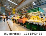 Small photo of BANGKOK, THAILAND - JUL 29 : people is shopping in Or Tor Kor Market on July 29, 2018. This market has food, fruit, seafood, vegetable etc.