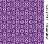 Blue Violet Tiled Flower/Digital abstract image with a seamless tiled floral pattern in blue violet. - stock photo