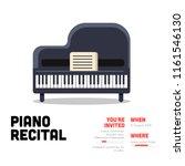 piano recital invitation vector ... | Shutterstock .eps vector #1161546130