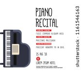 piano recital invitation vector ... | Shutterstock .eps vector #1161546163