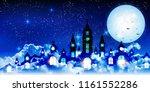 halloween autumn castle... | Shutterstock .eps vector #1161552286
