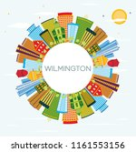 wilmington delaware city... | Shutterstock . vector #1161553156