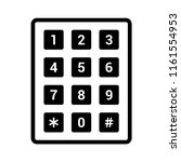 number pad or numeric telephone ... | Shutterstock .eps vector #1161554953