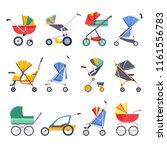 stroller or baby pram models... | Shutterstock .eps vector #1161556783