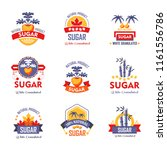 sugar natural product vector... | Shutterstock .eps vector #1161556786