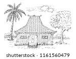 vector simple sketch of... | Shutterstock .eps vector #1161560479