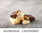 different energy protein bar on ... | Shutterstock . vector #1161562603