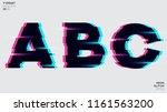 vector typeset design. neon... | Shutterstock .eps vector #1161563200