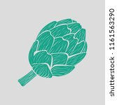 artichoke icon. gray background ... | Shutterstock .eps vector #1161563290