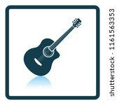 acoustic guitar icon. shadow...   Shutterstock .eps vector #1161563353