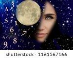 shaman  full moon  numerology | Shutterstock . vector #1161567166