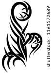 black tribal tattoo pattern on...   Shutterstock .eps vector #1161572689