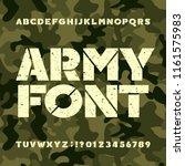 army stencil alphabet font.... | Shutterstock .eps vector #1161575983