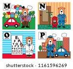 animal alphabet  bear career... | Shutterstock .eps vector #1161596269