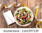 vegetable salad  diet food... | Shutterstock . vector #1161597139