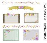 set of autumn flower card  ... | Shutterstock .eps vector #1161597193