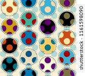 seamless geometric pattern.... | Shutterstock .eps vector #1161598090