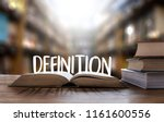 Small photo of DEFINITION word, business concep