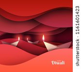 happy diwali festival of lights.... | Shutterstock .eps vector #1161601423