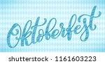 oktoberfest celebration... | Shutterstock .eps vector #1161603223