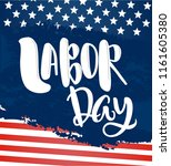 vector labor day greeting or... | Shutterstock .eps vector #1161605380