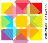 colorful abstract square... | Shutterstock . vector #1161605773