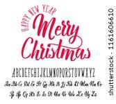 merry christmas  handwritten... | Shutterstock . vector #1161606610
