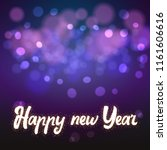 happy new year on the... | Shutterstock . vector #1161606616