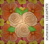 denim floral background. blue... | Shutterstock .eps vector #1161609370