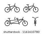 bicycle icon pictogram. classic ... | Shutterstock .eps vector #1161610780