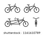bicycle icon pictogram. classic ... | Shutterstock . vector #1161610789