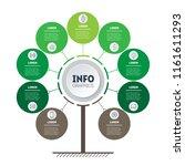 vertical timeline infographics. ... | Shutterstock .eps vector #1161611293