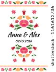 vintage flowers wedding save... | Shutterstock .eps vector #1161612736