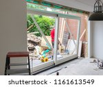 removing a wall and placing a...   Shutterstock . vector #1161613549