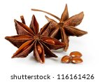 Star Anise. Isolated On A Whit...