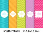 set of bright seamless zigzag... | Shutterstock .eps vector #1161615163