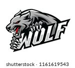 wolf roar gripping the text... | Shutterstock .eps vector #1161619543