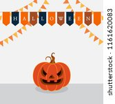 halloween party flags and... | Shutterstock .eps vector #1161620083