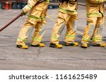 fireman on the fire | Shutterstock . vector #1161625489