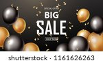 sale banner with black and gold ... | Shutterstock .eps vector #1161626263