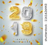 happy new year 2019 greeting... | Shutterstock .eps vector #1161626443