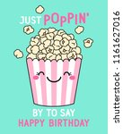 just poppin  by to say happy... | Shutterstock .eps vector #1161627016