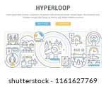 line banner of hyperloop.... | Shutterstock .eps vector #1161627769