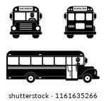 school bus black symbol set.... | Shutterstock .eps vector #1161635266