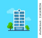 city building with trees.... | Shutterstock .eps vector #1161638236
