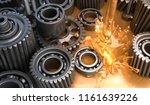 lubricant and gears   3d... | Shutterstock . vector #1161639226