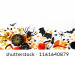 halloween holiday background... | Shutterstock . vector #1161640879