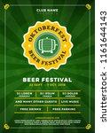 oktoberfest beer festival... | Shutterstock .eps vector #1161644143
