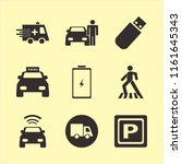 car vector icons set. with car... | Shutterstock .eps vector #1161645343