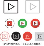 play button icon | Shutterstock .eps vector #1161645886